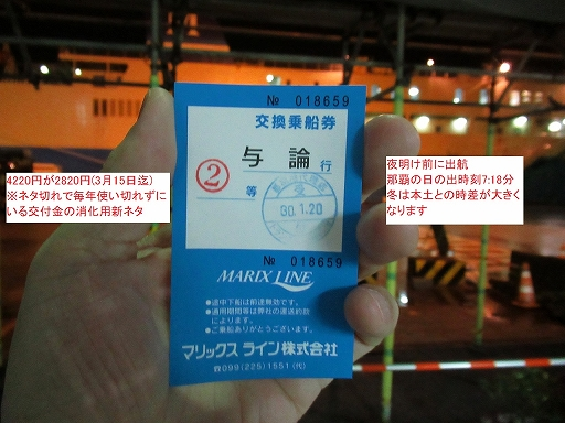 Ticket to sail