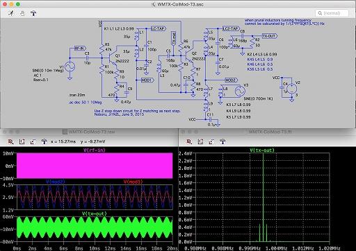 2段式コレクタ変調 狭帯域FFT(リニア電圧表示)