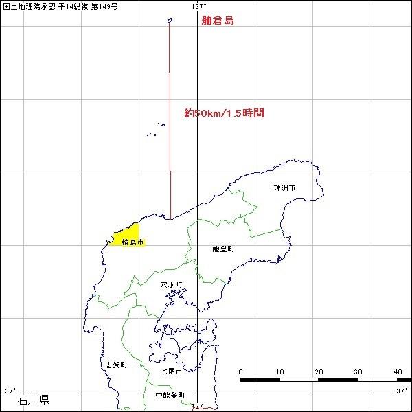 舳倉島位置図